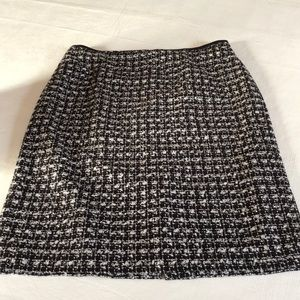 Talbots black an white tweed skirt.